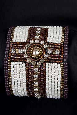 Trisha Waldron Designs, Cross Bracelet, Bracelet, Beaded