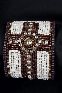 Trisha Waldron Designs, Cross Bracelet, Bracelet, Beaded