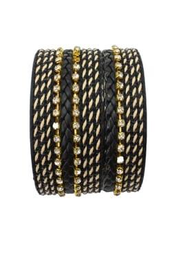 f9f8c5fae63 EB693 - Rhinestone and Basket Weave Cuff Bracelet - Trisha Waldron ...