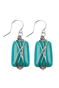 Turquoise Handcrafted Wire-Wrapped Earring