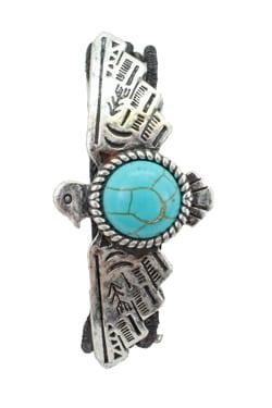Thunderbird, Toggle Bracelet, Western Bracelet, Magnesite Turquoise